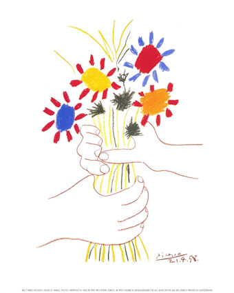 Fleurs_et_Mains1958 - P. Picasso